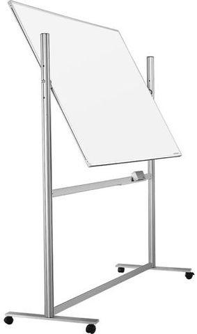 Мобильная белая вращающаяся доска с эмалевым покрытием в системной рамке ferroscript 1200х900 мм.