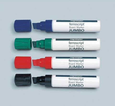Набор из 4-х маркеров Jumbo для флипчартов Magnetoplan с широким грифелем