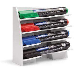 Держатель для маркеров магнитный белый, для горизонтального размещения 4-х маркеров