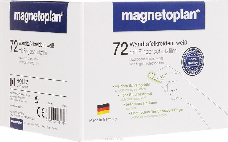 Мел белый Magnetoplan 72 шт.