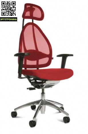 Эргономичное офисное кресло Open Art 10 chrome Темно-красный