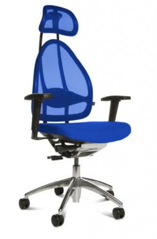 Эргономичное офисное кресло Open Art 10 chrome Темно-синий