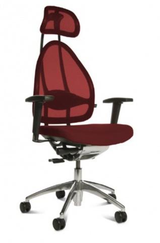 Эргономичное офисное кресло Open Art 10 chrome Бордовый