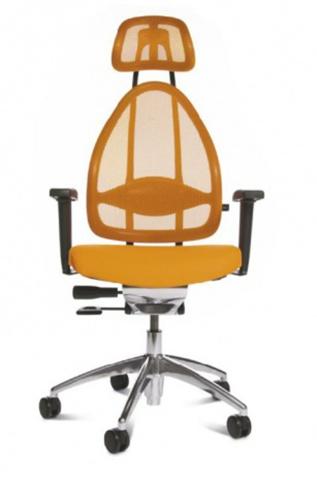 Эргономичное офисное кресло Open Art 10 chrome Оранжевый