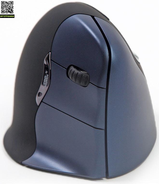 Беспроводная вертикальная мышь VerticalMouse4Мыши<br>Беспроводная вертикальная мышь VerticalMouse 4 обеспечивает наиболее здоровое положение кисти и препятствует развитию синдрома запястного канала. 6 функциональных клавиш, изменение чувствительности мыши. Беспроводная версия - только для правши.<br>