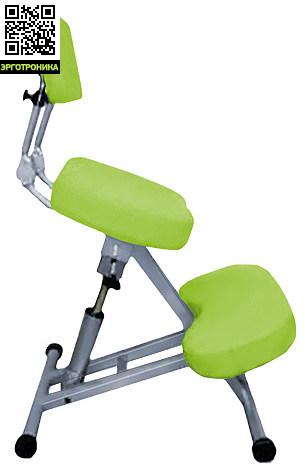 Стальной Smartstool с упором в колени KM01B со спинкойКоленные стулья<br>/KM01B – smartstool с упором в колени и с поддержкой спины. Коленный смартстул имеет регулировку по высоте сиденья с помощью газ-лифта и регулировку спинки по высоте и углу наклона. Удобен как для работы в офисе, так и дома. Подходит для стола традиционной высоты. Может использоваться взрослыми и детьми ростом от 120см.<br>/Стул имеет колесики, чтобы было проще придвигаться к столу или отодвигаться от него не вставая при этом со стула.<br>Спинка удобна для отдыха и поддержания поясницы во время работы.<br>