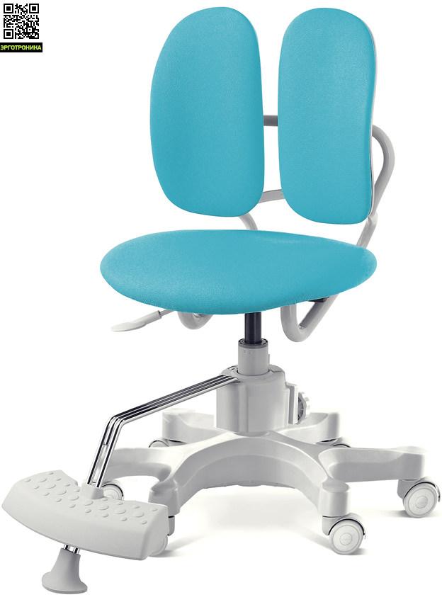 Ортопедическое детское кресло Duorest Kids Max Голубая эко-кожа SEB