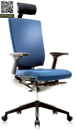 Эргономичное офисное кресло Fursys T 550 Синий цвет