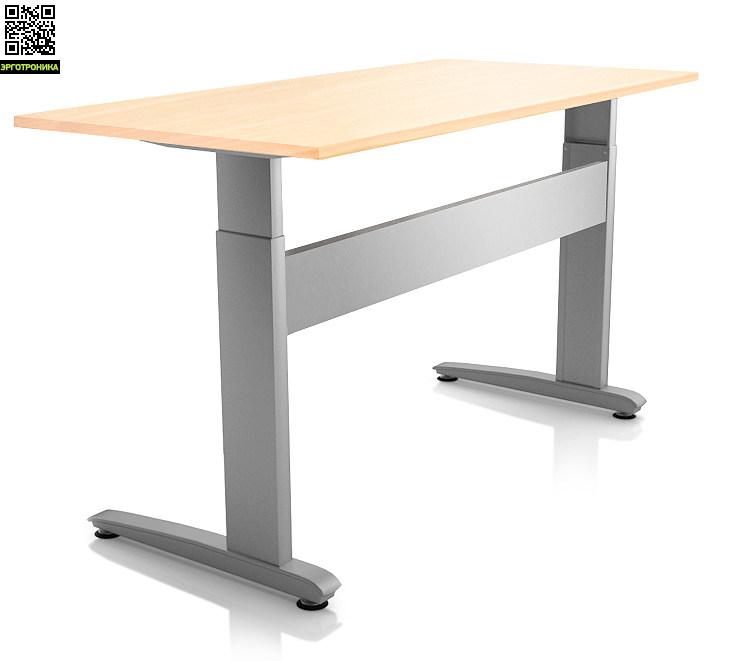 ErgoStol DuoСтолы<br>Стол для работы как сидя, так и стоя<br>Электро-регулировка высоты<br>Инновационный механизм<br>Три вида формы столешницы<br>