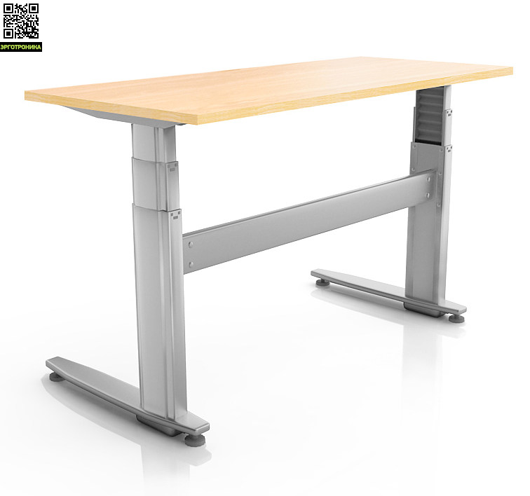 Регулируемый стол ErgoStol Duo PlusСтолы<br>Стол для работы сидя и стоя<br>Электро-регулировка высоты<br>Три вида формы столешницы<br>Удлиненная столешница<br>