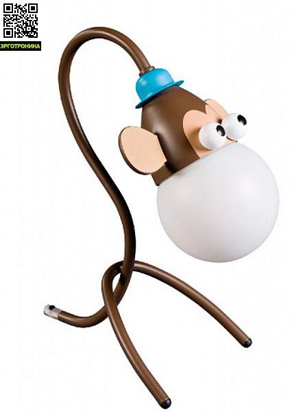 Настольный светильник Monkey Mixed 1x10WНастольные лампы для школьников<br>Оригинальный светильник для детской комнаты одновременно является стильным и практичным элементом дизайна.<br>