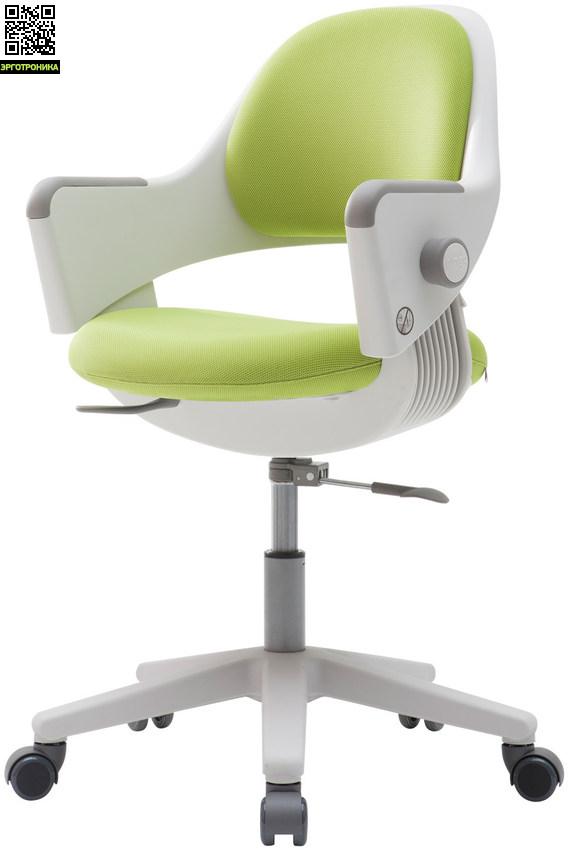Детское эргономичное кресло «RINGO» Салатовая обивка