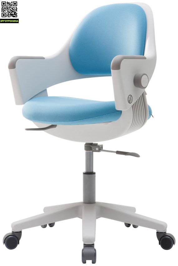 Детское эргономичное кресло Ringo Голубая обивка