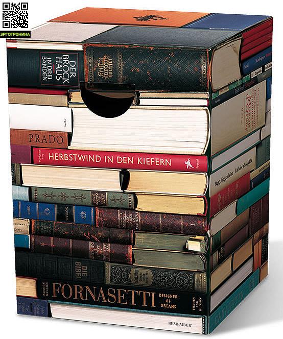 Табурет картонный BookwormДля дома<br>Картонный табурет легко и быстро собирается,  сидеть на нем удобно, как на обычном деревянном или пластиковом стуле. Также табурет можно использовать как журнальный или прикроватный столик. Для экономии жилого пространства можно с легкостью собирать его после использования. Материал: гофрированный картон                             <br>Размер: 32,5 х 32,5 х 44,4 см                                   <br>Выдерживает вес до 200 кг<br>