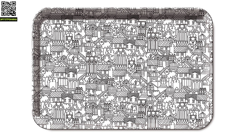 Поднос UrbinoДля дома<br>Легкие и прочные деревянные подносы отличаются оригинальными, яркими расцветками, свойственными компании Remember.                                                                   <br>Размер: 45,5 х 31 х 1,5 см<br>