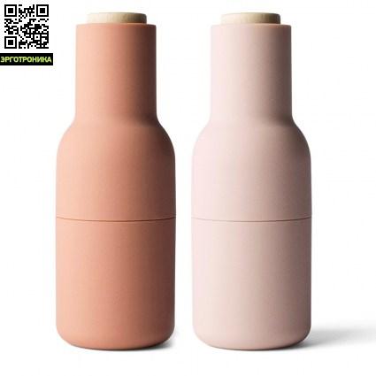 Набор мельниц для специй Bottle Mini (2 шт)Для дома<br>Это больше чем просто мельница для соли и перца. С помощью Bottle Mini можно молоть собственные смеси из пряностей.<br>Цвет зеленый (высота -20 см)<br>Дизайнер Norm Architects<br>