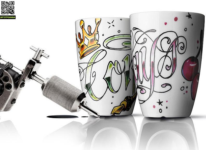 Набор термокружек INK-Always/Connected (2 шт.)Для дома<br>Цвет белый;V-210<br>Дизайнер Pernile Vea, a. Hasnaoui<br>