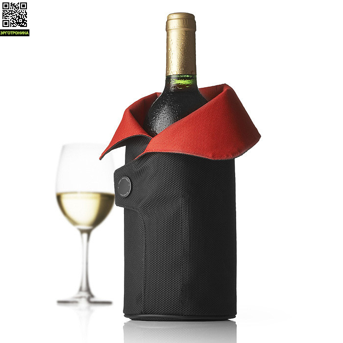 Чехол охлаждающий для вина Cool Coat (черный/красный)Для дома<br>Цвет черный/красный; В-27<br>Дизайнер Jakob Wagner<br>