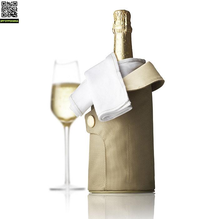 Чехол охлаждающий для шампанского Cool CoatДля дома<br>Цвет золотой; В-27<br>Дизайнер Jakob Wagner<br>