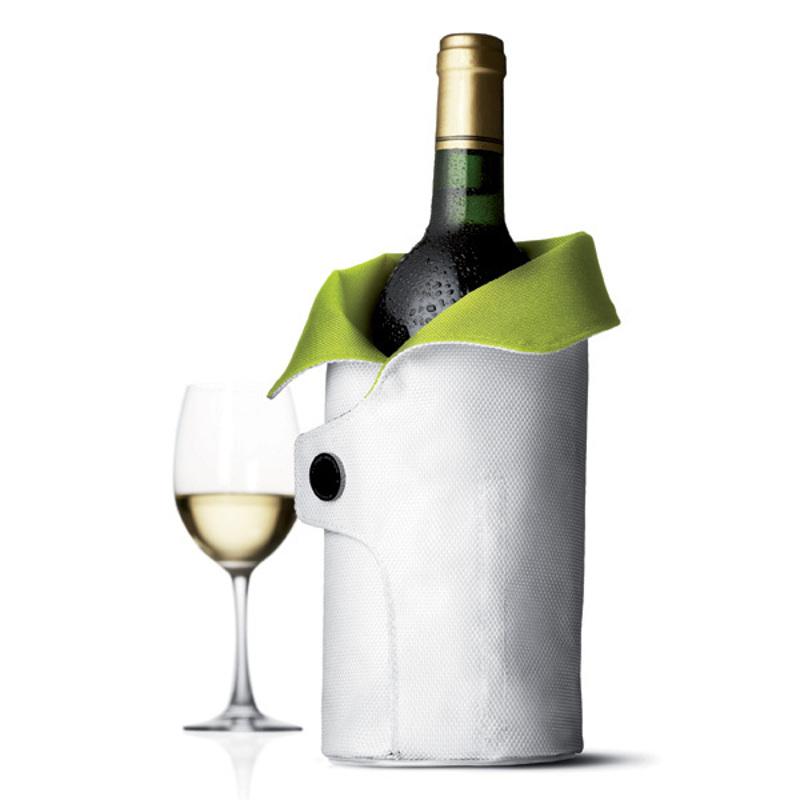 Чехол охлаждающий для вина Cool Coat (лайм/белый)