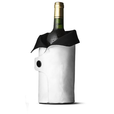Чехол охлаждающий для вина Cool Coat (черный/белый)