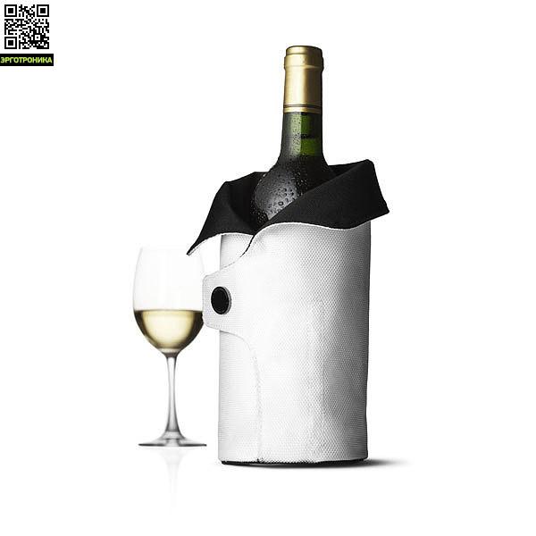 Чехол охлаждающий для вина Cool Coat (черный/белый)Для дома<br>Цвет черный/белый; В-27<br>Дизайнер Jakob Wagner<br>