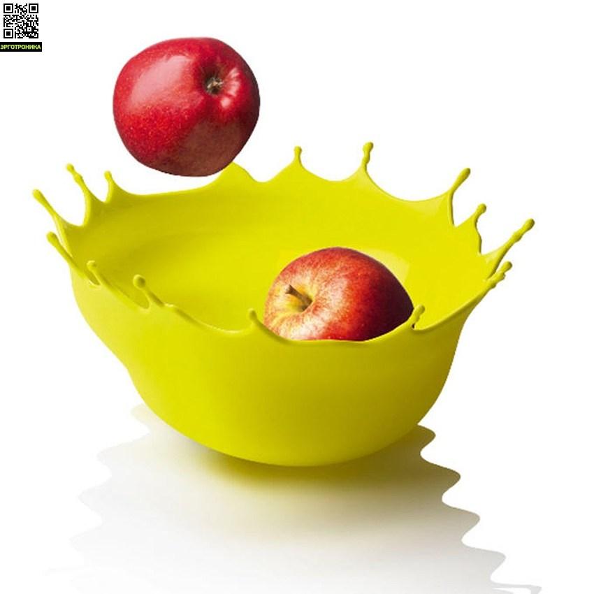 Блюдо Dropp желтоеДля дома<br>Ваза Dropp от дизайнера Niels Romer и датского бренда Menu<br>Цвет желтый; D-29<br>Дизайнер Niels Romer<br>