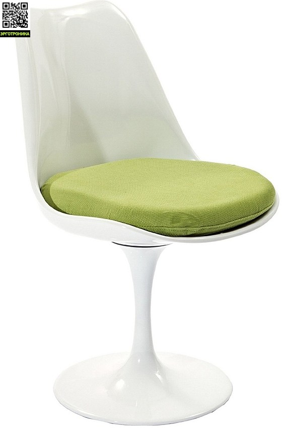 Стул Eero Saarinen Style Tulip ChairДля дома<br>Стул с мягкой подушкой<br>Вращается вокруг своей оси<br>