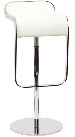 Барный стул из кожи Piston Stool