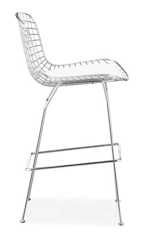 Барный стул Harry Bertoia Style Wire Side