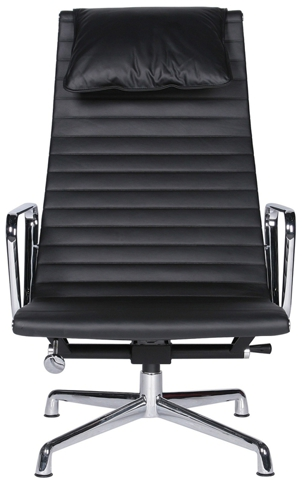 Кресло Eames Style Ribbed Lounge Chair & Ottoman EA124/EA125
