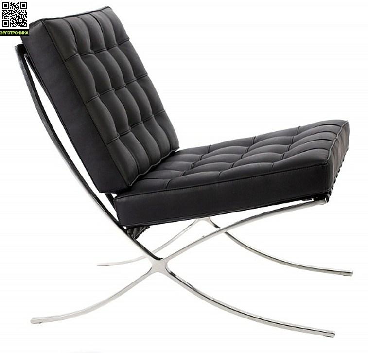 Кресло Barcelona Style ChairДля дома<br>Натуральная кожа<br>Легированная сталь<br>Бесшовная технология крепления<br>