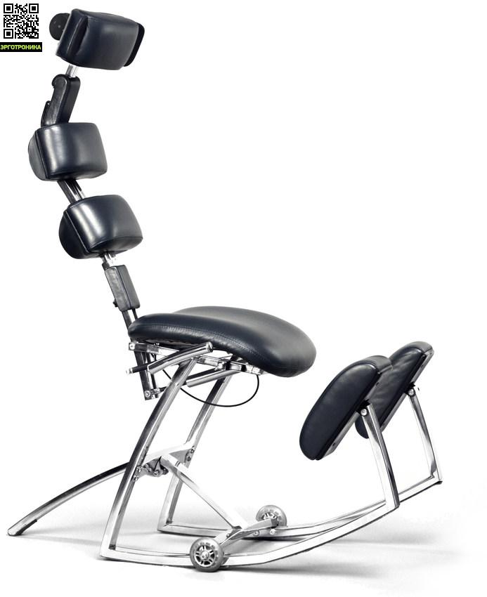 Кресло-корсет SpinalAssistКоленные стулья<br>Коленный стул для здоровья спины с подвижной основой. Перемещая центр тяжести и меняя настройки кресла можно сидеть в одном из 30 положений переменно. Движения более естественны для человеческого тела, чем статичное положение.<br>