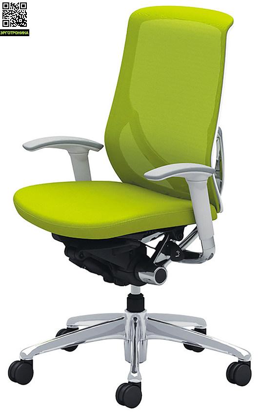 Эргономичное офисное кресло ZephyrЭргономичные кресла<br>Новая разработка Okamura в сегменте кресел для персонала. Синхронный механизм, регулировки кресла по высоте и углу наклона спинки, регулировка поясничной зоны, 3D подлокотники, мягкое сиденье.<br>