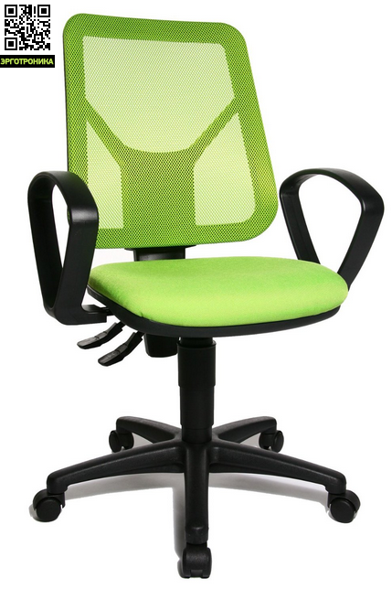 Эргономичное офисное кресло Airgo NetTopStar<br>Эргономичное офисное кресло для персонала. Эргономичная спинка с встроенной поддержкой поясницы выполнена из дышащей сетки. Спинка регулируется по высоте механизмом Up and Down. В конструкцию спинки входит качественный механизм перманент-контакт. Удобное, плоское сиденье со скошенным вырезом края сиденья. Удобные подлокотники.<br>