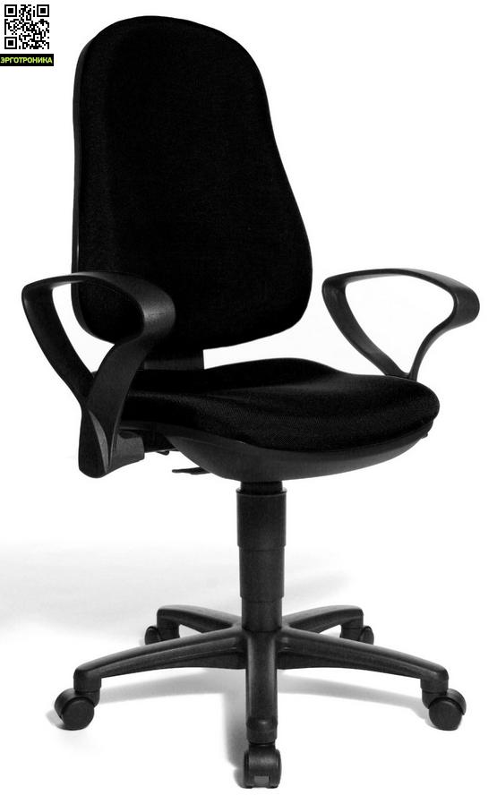 Эргономичное офисное кресло Support PTopStar<br>Эргономичное офисное кресло для персонала. Регулируемая спинка c встроенной поддержкой поясницы и встроенным механизмом перманент-контакт. Специальное, вырезанное под естественную форму таза сиденье. Удобные, пологие подлокотники, снимающие нагрузку с плечевых мышц.<br>