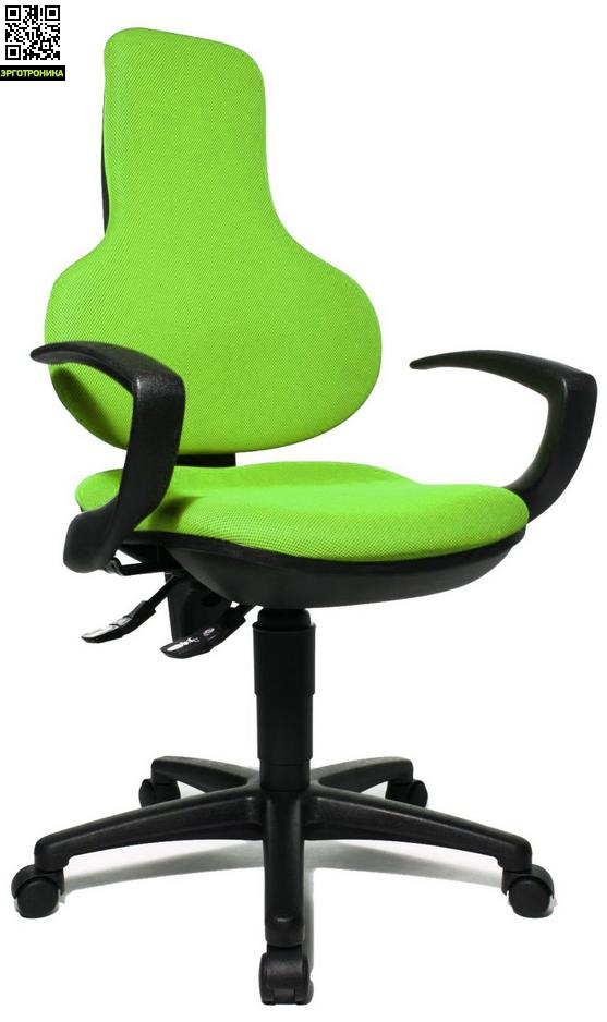 Эргономичное офисное кресло Ergo Point PKTopStar<br>Эргономичное офисное кресло для персонала. Удобная эргономичная спинка с поддержкой поясницы и регулировкой по высоте позволит выбрать наиболее удобное положение. Механизм перманент-контакт для регулировки угла наклона спинки и фиксации её в заданном положении. Особо прочная крестовина, в состав которой входит стекловолокно.<br>