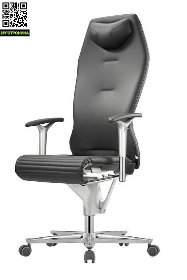Эргономическое кресло руководителя GalileoЭргономичные кресла<br>Гибкая спинка, механизм GlideTec® Plus автоматически настраивающий кресло под сидячего, могофункциональные подлокотники, регулируемый подголовник. Размер: 50-63,5x41-56xh122, вес: 25.5.<br>