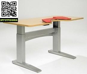 Эргономичный стол SALLI COMFORTСтолы<br>Стол Salli Comfort оснащен механизмом электронной регулировки высоты. Высота регулируется в пределах 63-120 см.<br>Размер столешницы - 160х80х2,6 см. В столешнице есть специальная выемка для удобной поддержки рук и плечей. Модель Salli Comfort предназначена для использования в небольших офисах или дома и может быть использована как компьютерный стол.Пожалуйста, обратите внимание, что красная поддержка локтя показанная на изображении не входит в цену.<br>