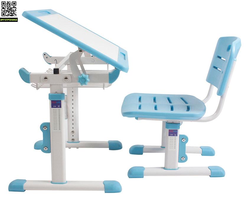 Растущая парта-трансформер Evolife Multilogic со стуломДетские парты<br>Парта и стул из Эко-пластика.<br>Растущая мебель.<br>