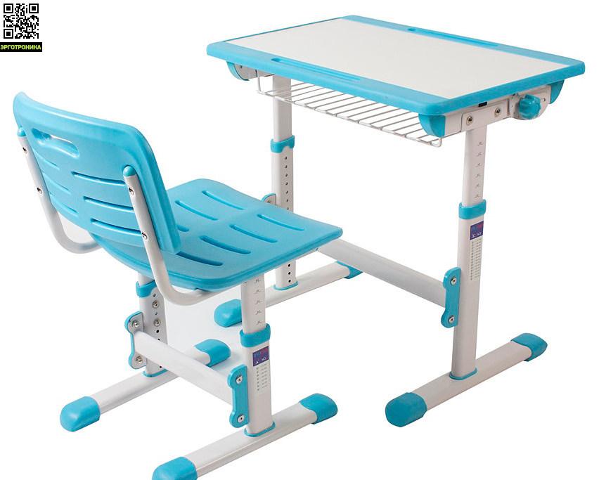 Растущая парта-трансформер EVOLIFE Minimax со стуломДетские парты<br>Парта и стул из Эко-пластика.<br>Растущая мебель.<br>