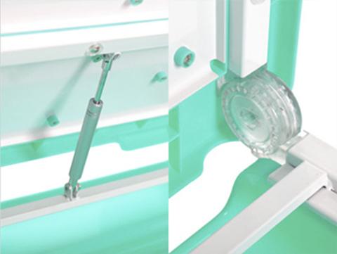Растущая парта-трансформер Study2 со стулом Механизм плавного спуска