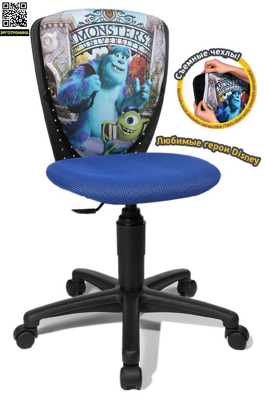 Детское эргономичное кресло Disney NanoДетские кресла<br>• Эргономичная, контурная, регулируемая по высоте пластиковая спинка с тканевой обивкой <br>• Встроенная, фиксирующая, регулируемая по высоте, поддержка поясницы <br>• Индивидуальный, в зависимости от веса, угол наклона и возврата спинки <br>• Вырезанное с учетом детской эргономики сиденье. <br>• Скошенный край сидения для предотвращения зажима подколенных кровеносных сосудов <br>• Перманент-контакт<br>