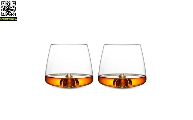 Набор бокалов для виски Glass (2 шт)Кухонная эргономика<br>Бокалы Whiskey Glass сочетают в себе изящество формы, ручную работу высокого качества и функциональность. Это скандинавский дизайн. Необычная задумка создает интересный эффект – выпуклый «шип» на дне элегантно приподнимает кубики льда, благодаря чему они принимают интересное положение. В набор входит два бокала. Рекомендуется мыть вручную.<br>