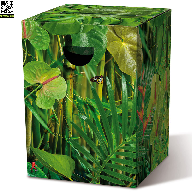 Табурет картонный JungleДля дома<br>Картонный табурет легко и быстро собирается,  сидеть на нем удобно, как на обычном деревянном или пластиковом стуле. Также табурет можно использовать как журнальный или прикроватный столик. Для экономии жилого пространства можно с легкостью собирать его после использования. Материал: гофрированный картон                             <br>Размер: 32,5 х 32,5 х 44,4 см                                   <br>Выдерживает вес до 200 кг<br>
