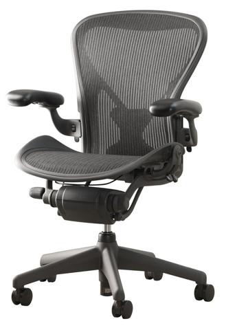Кресло для тяжелый людей Aeron Herman Miller