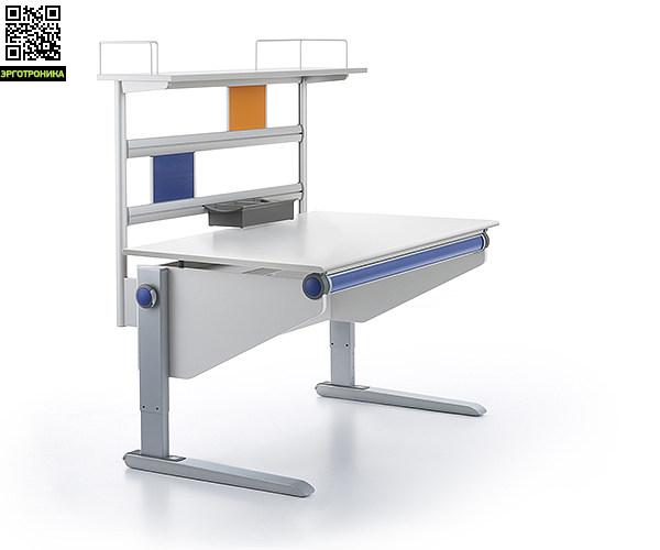 Полка Flex Deck для парты WinnerДетская мебель: тумбы, стеллажи, приставки<br>Письменный стол-трансформер Winner станет еще более стильным и вместительным с полкой Flex Deck. Вместе они составят единый комплект для хранения не только учебников, альбомов, тетрадей, различных канцелярских принадлежностей, папок. На регулируемом по высоте стеллаже поместятся принтер, сканер, компакт-диски. Усовершенствованное рабочее место не отнимет много пространства в комнате, но за счет продвижения по вертикали станет заметно более вместительным.<br>