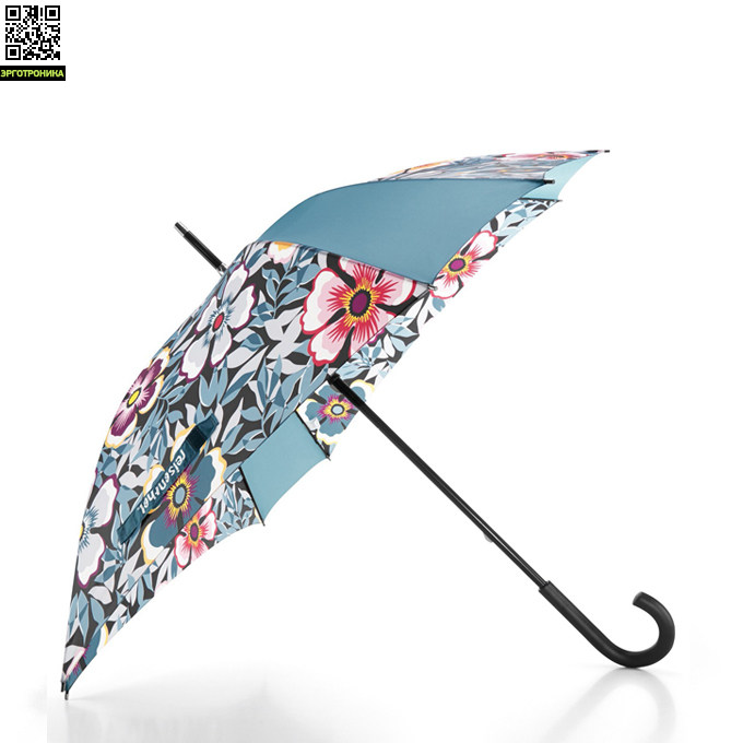 Зонт ReisenthelДля дома<br>Противоштормовой зонт от Reisenthel защищает не только от дождя, но и от ветра. Уникальная восьмиугольная конструкция делает зонт очень прочным, он не будет выворачиваться даже при сильных порывах ветра. Ткань натянута на прочный каркас из спиц механизм. Даже если купол зонта вывернется, его можно смело потянуть и вернуть в исходное положение. Материал: полиэстер. Диаметр: 91 см. Высота: 85 см<br>