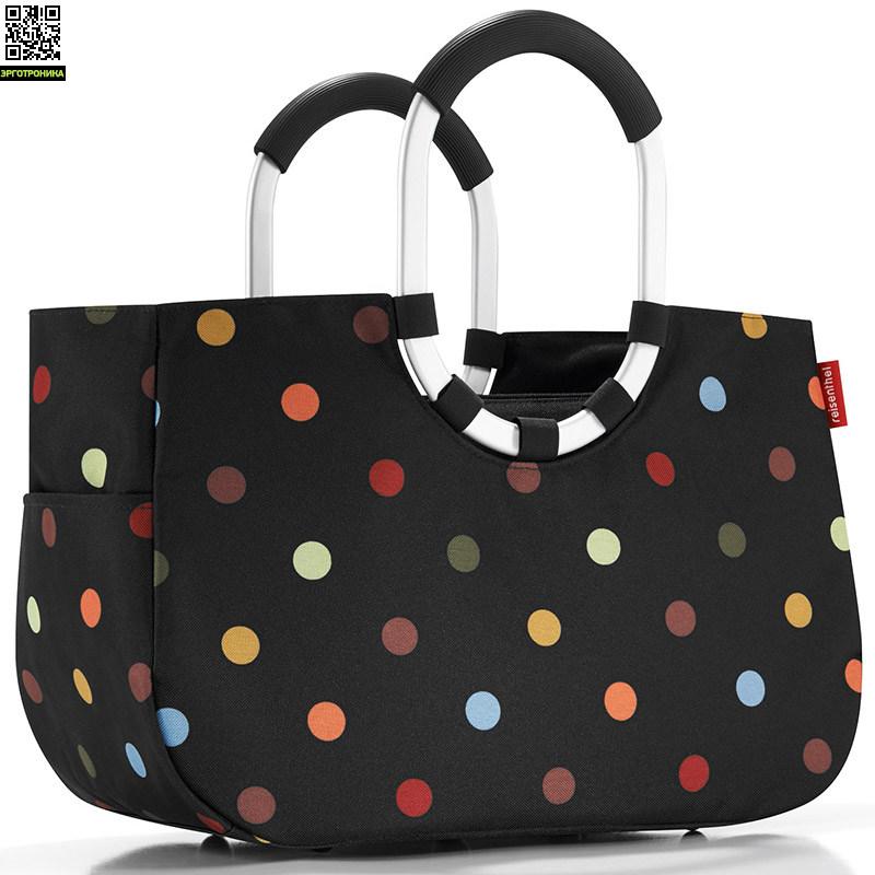 Сумка Loopshopper MДля дома<br>Элегантная и функциональная сумка для шопинга и активной жизни. Изюминкой этой сумки являются две удлиненные алюминиевые ручки. Сумку можно носить в руках или на плече. Есть внутренний карман на молнии и два внешних. Объем 12 л.<br>