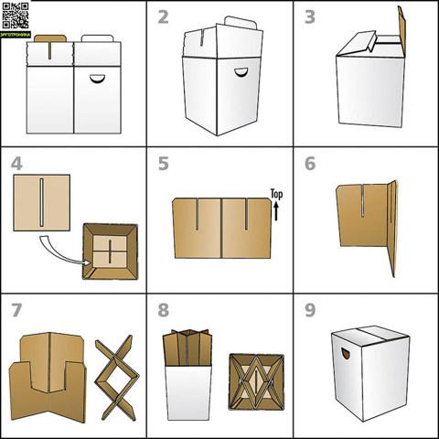 Табурет картонный Kommodhen